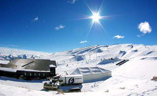 Słońce w Snowy Mountains