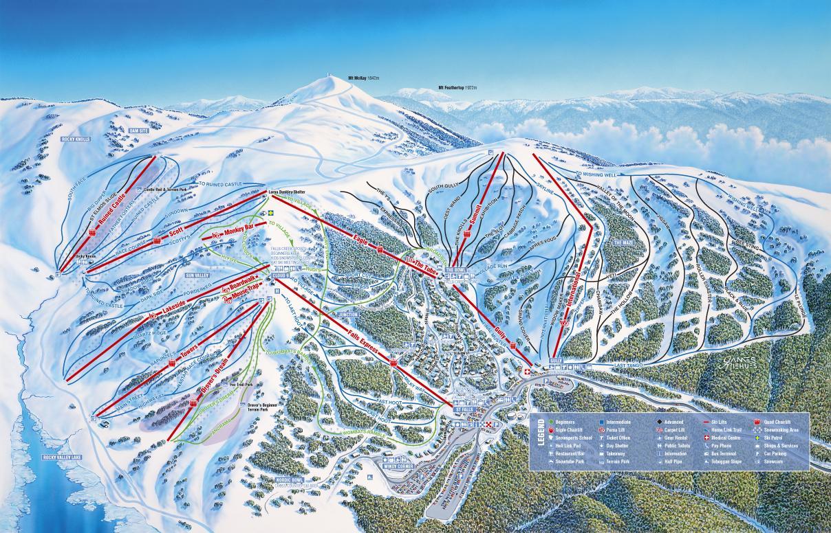trasy narciarskie w Snowy Mountains