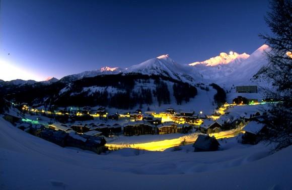 Dolina wieczorową porą - codzienny widok Val D'Allos