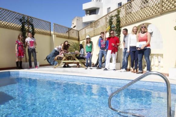 Kursanci w szkole Maltalingua